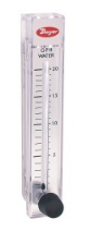 FLOWMETER, RANGE 1-12 GPH/0.06-0.76 LPM WATER